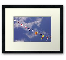 Colourful sailing pennants, Classic Boat Rally, Sutton Harbour, Plymouth, Devon, England, UK Framed Print