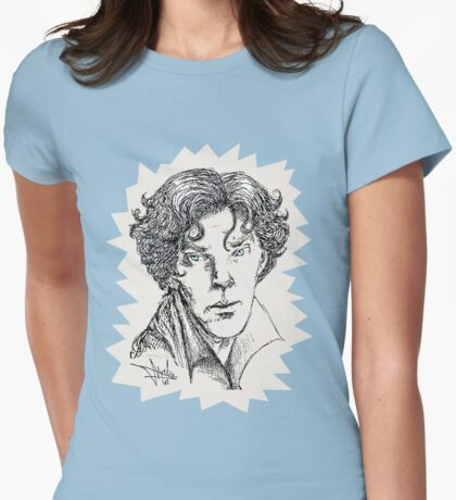Portrait of a Consulting Detective Womens Fitted T-Shirt
