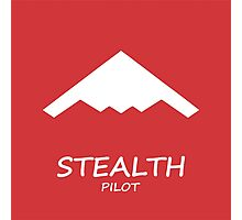 Red Stealth Pilot Photographic Print