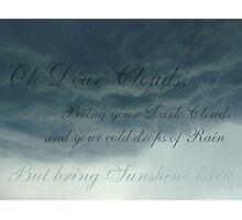 Dark Cloud Photographic Print