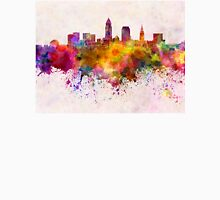 Cleveland skyline in watercolor background Unisex T-Shirt