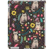 Raccoons bright pattern iPad Case/Skin