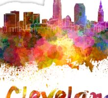 Cleveland skyline in watercolor Sticker