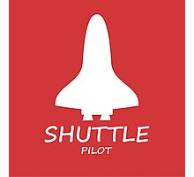 Red Shuttle Pilot Photographic Print