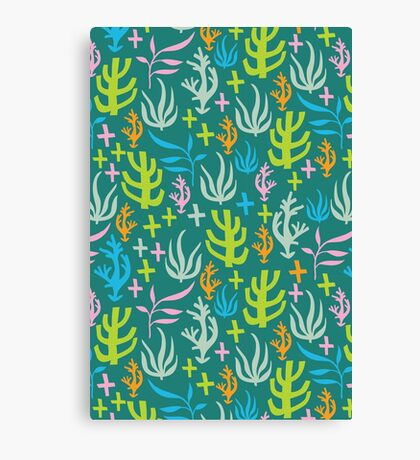 Seaweed Pattern Canvas Print
