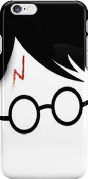 Harry Potter (Cartoon face) - Iphone case  by sullat04