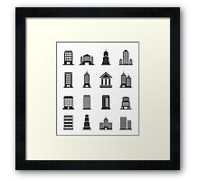 Building office an icon Framed Print