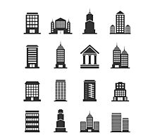 Building office an icon Photographic Print