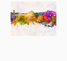 Coimbra skyline in watercolor background Unisex T-Shirt