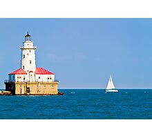 Chicago harbor lighthouse. Chicago, IL, USA Photographic Print