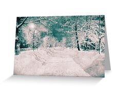 Winter wonderland, vintage halftone effect Greeting Card