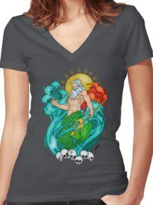Poseidon Women's Fitted V-Neck T-Shirt
