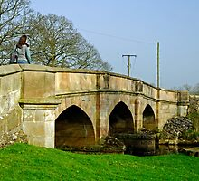 Road Bridge Across the River Maniflod, Ilam  by Rod Johnson