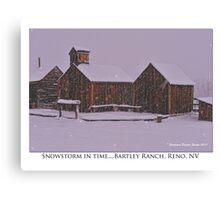 """Snowstorm in time"" Bartley Ranch, Reno, NV Canvas Print"