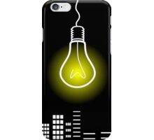 Bulb over a city iPhone Case/Skin
