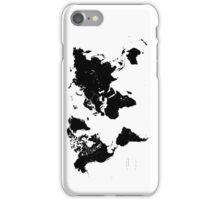 Black & White World Map iPhone Case/Skin