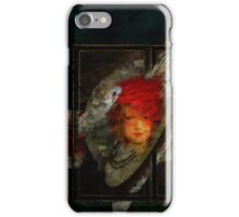 Portrait of lady in red hat. iPhone Case/Skin