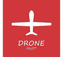 Red Drone Pilot Photographic Print