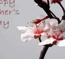 Pink Plum Blossom With Happy Mother's Day Greeting Sticker