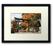 Japan, Tochigi, Nikko, Torii  Framed Print