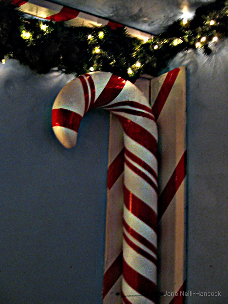 That's One BIG Candy Cane by Jane Neill-Hancock