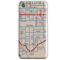 Springfield Subway System Map iPhone Case/Skin