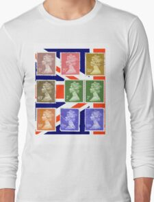 British Royal Mail postage stamps  Long Sleeve T-Shirt