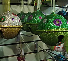Glitter Jingle Bells For Your Tree by Jane Neill-Hancock