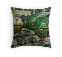 Glitter Jingle Bells For Your Tree Throw Pillow