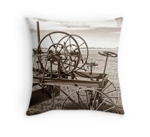 Plains of the Past Throw Pillow