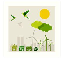Ecology a city Art Print