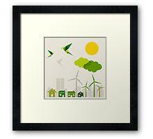 Ecology a city Framed Print