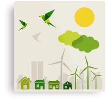 Ecology a city Metal Print