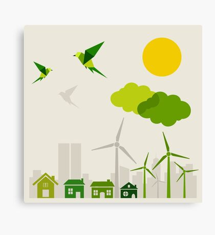 Ecology a city Canvas Print
