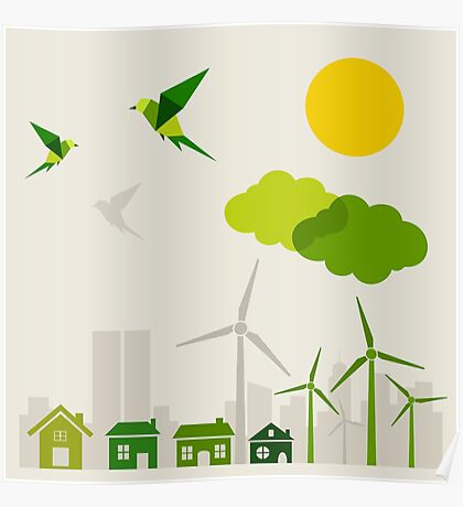 Ecology a city Poster