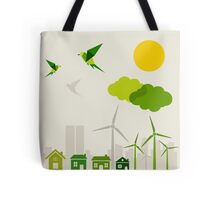 Ecology a city Tote Bag
