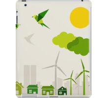 Ecology a city iPad Case/Skin
