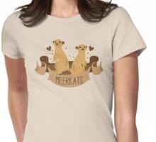 Meerkats banner Womens Fitted T-Shirt