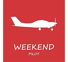 Red Weekend Pilot Photographic Print