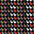 Patterned Birds (black) by LydiaWoods