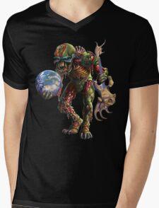 IRON MAIDEN FINAL FRONTIER LOGO Mens V-Neck T-Shirt