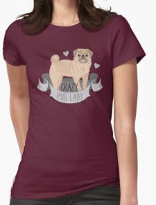 Crazy Pug (dog) Lady T-Shirt