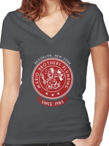Just Call the Brothers Women's Fitted V-Neck T-Shirt