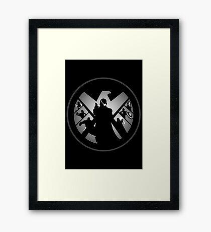 Metallic Shield Framed Print