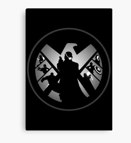 Metallic Shield Canvas Print