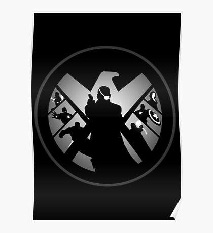 Metallic Shield Poster