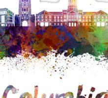 Columbia MO skyline in watercolor Sticker
