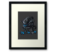 ALIEN EATS ALIEN Framed Print