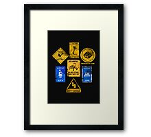 USEFUL SIGNS Framed Print