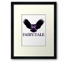 FAIRY TALE magical mystical owl purple occult  Framed Print